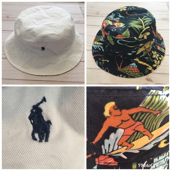 d70fe7ab4 Polo Ralph Lauren Reversible Boys Bucket Hat 4-7 NWT